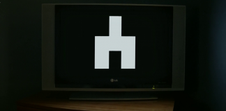 A picture of the recurring glyph in Black Mirror that is an upside down Y and is the symbol used by Stefan when creating his routes in his game.