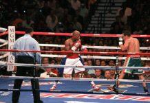 Mayweather mid-fight
