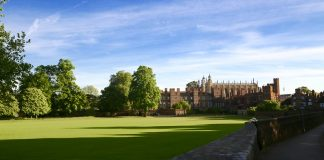 A picture of Eton College's grounds