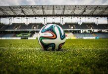 picture of football in stadium